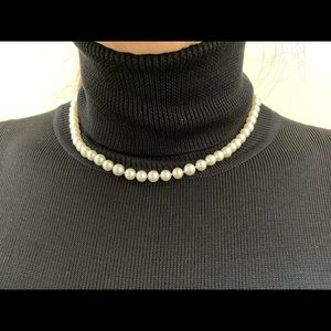 Vintage Japanese Pearl Necklace, Size 6.01mm, L16""